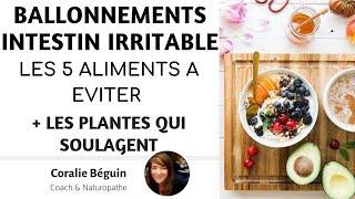 INTESTIN IRRITABLE / COLOPATHIE - LES 5  PIRES ALIMENTS  | Coralie Beguin Naturopathe