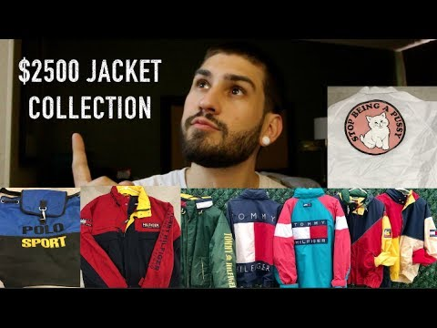$2500 JACKET COLLECTION!!! VINTAGE TOMMY HILFIGER, POLO SPORT, ALIFE, RIP N DIP, NAUTICA, BURBERRY!!
