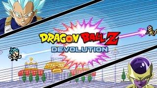 Dragon Ball Z Devolution: Super Saiyan God Super Saiyan Vegeta vs. Golden Frieza!