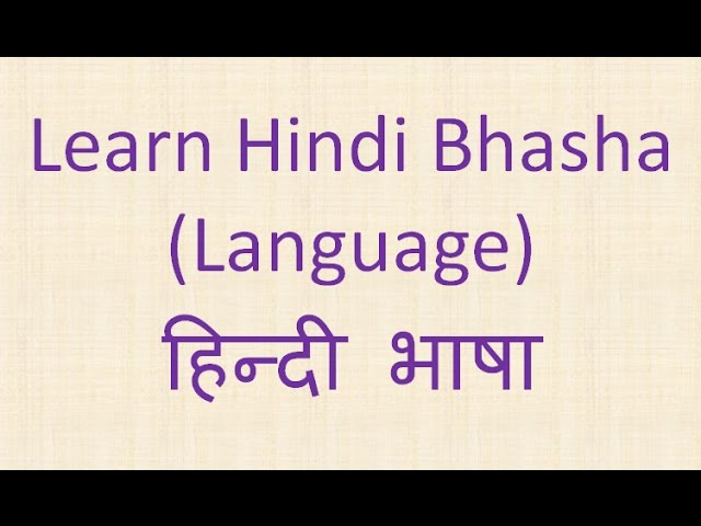 Learn Hindi Bhasha (Language)  हिन्दी भाषा Lesson 1 Travel Video