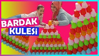 Bardak Kulesi Challenge | Falling Cup Tower Challenge with Fenomen Tv