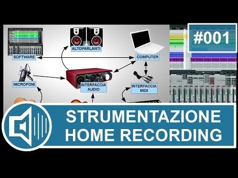 Strumentazione per Home Recording: software, computer e scheda audio [vchr001]