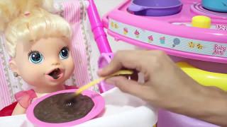🍼 BABY ALIVE  ROTINA DA NOITE E ROTINA DA MANHÃ CAFÉ DA MANHÃ DA MINHA BONECA thumbnail