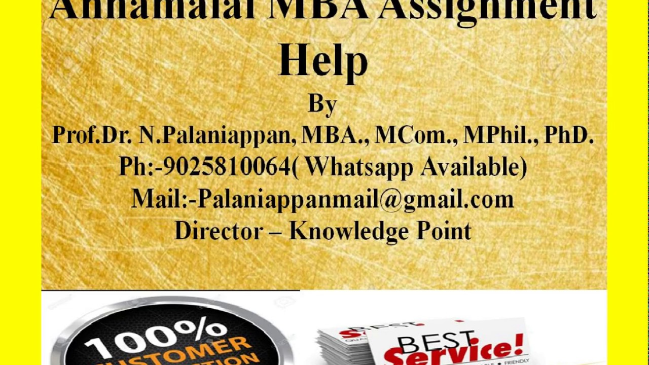 Mba assignment help