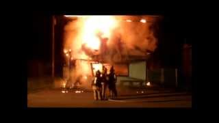 Convenience Store Fully Engulfed In Flames, Lake Station Indiana.
