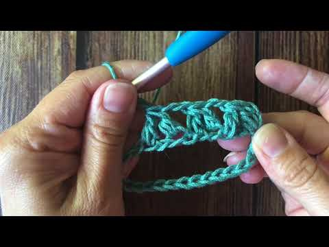 Forked Cluster Crochet Stitch