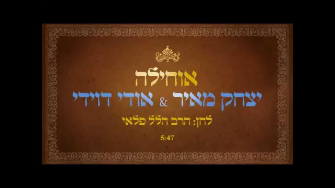 יצחק מאיר & אודי דוידי - אוחילה לאל  yitzchak meir