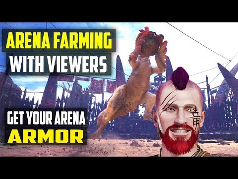 🔴 Monster Hunter: World | ARENA FARMING WITH VIEWERS! Brigade And Guild Cross Armor Ps4 Gameplay