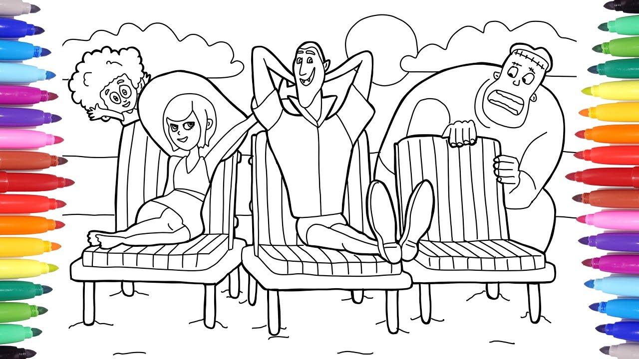 Hotel Transylvania 3 Summer Vacation Drac And Mavis Beach Vacation Coloring Pages