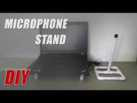 DIY Creative home made microphone stand with PVC