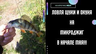 Микроджиг Ловля щуки и окуня на ультралайт Рыбалка на Урале весной весной