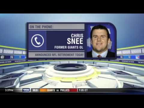 New York Giants' Chris Snee on his retirement - The Michael Kay Show