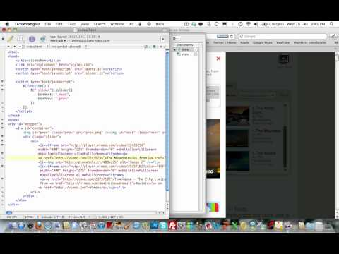 Embedding video's using the jQuery Slider tutorial code