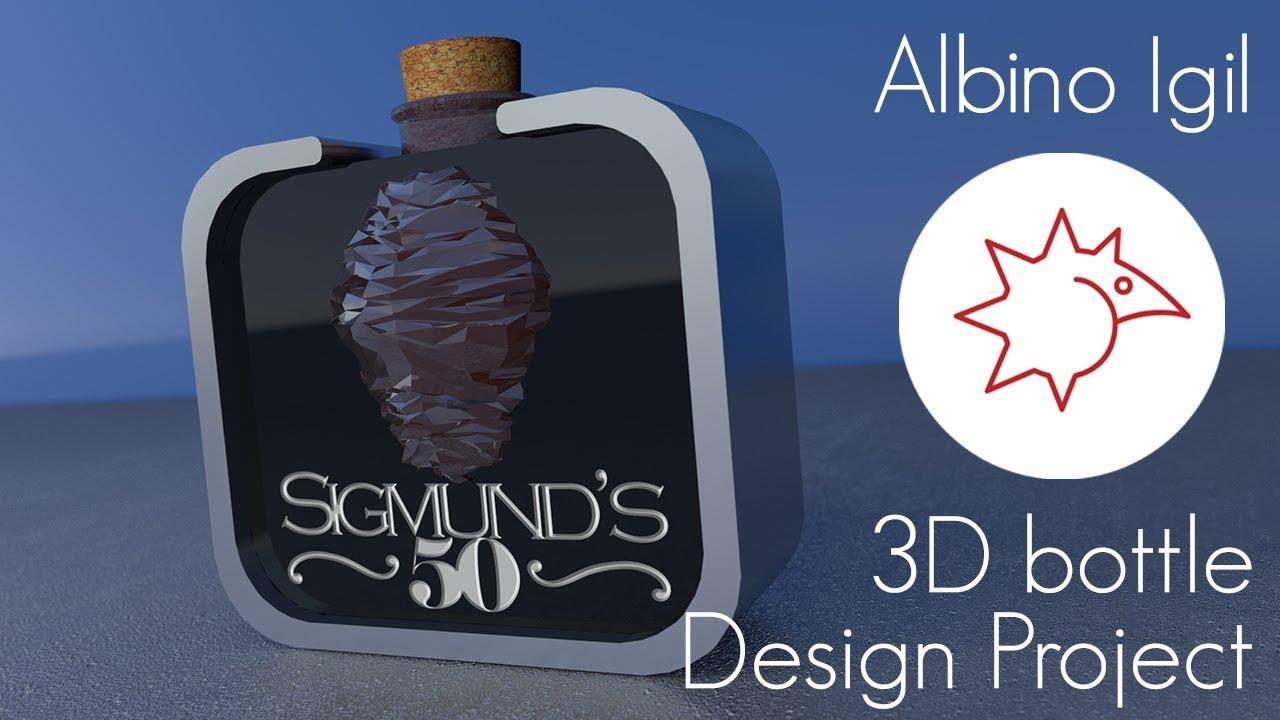 Albino Igil Bottle 3D Project Animation + print media