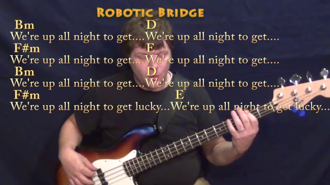 Uncategorized Get Lucky Lyrics get lucky daft punk bass guitar cover lesson in fm with chords chordslyrics