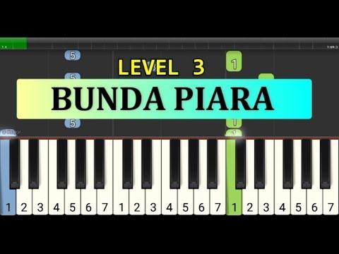 Nada Piano Bunda Piara - Piano Level 3 - Instrumen Lagu Anak Anak Cerdas