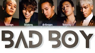 BIGBANG (빅뱅) - BAD BOY (Color Coded Lyrics Eng/Rom/Han)