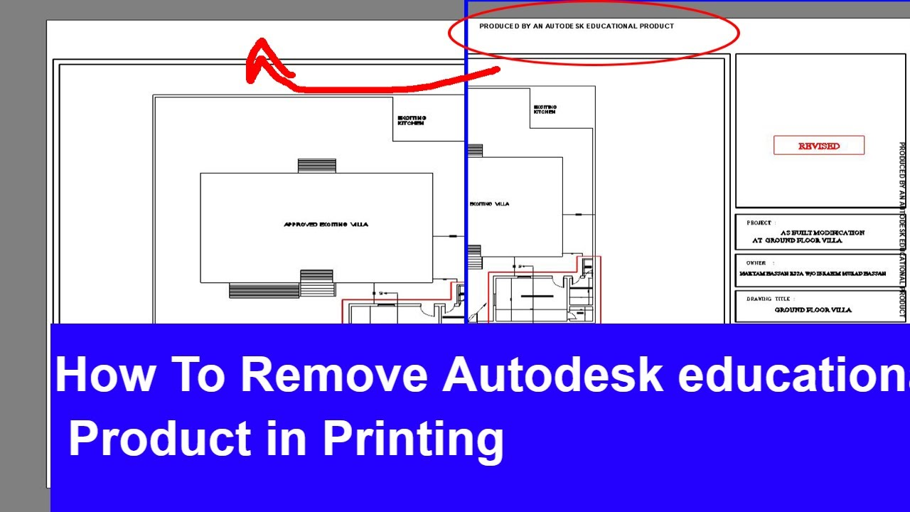 How To Remove Autodesk Educational Product Stamp From Drawing Youtube