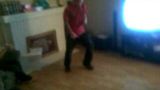 Getting slapped in the chest, turning around and break dancing in the living room.