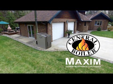 Froling P4 wood pellet boiler operation in Ontario Canada ...