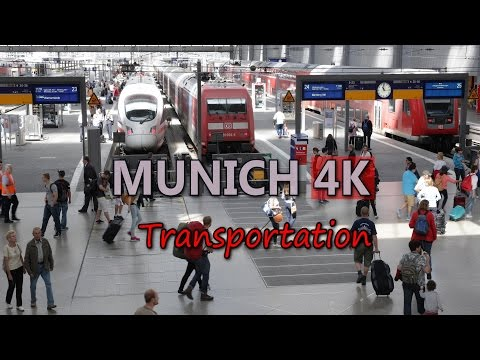 Ultra HD 4K Munich Travel Germany Tourism Transportation Vehicles Tram Train UHD Video Stock Footage