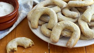 Vanilla And Walnut Crescent Cookies Recipe