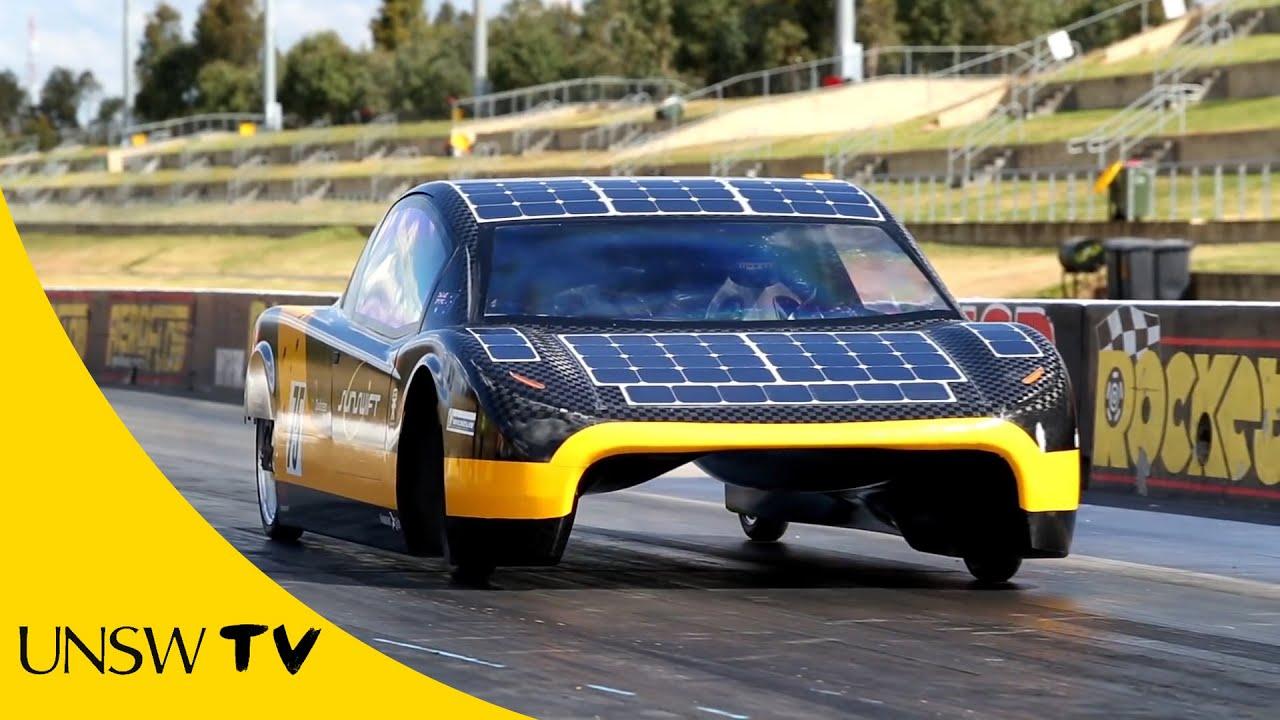Solar Powered Car Race Video