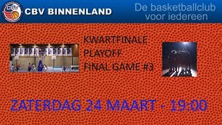 Kwartfinale Play Offs FINAL #3 Renes/Binnenland VSE1 vs Loon Lions
