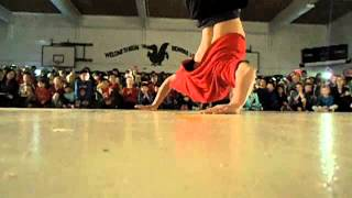 Bboy Trickey school demo Now or Never Crew