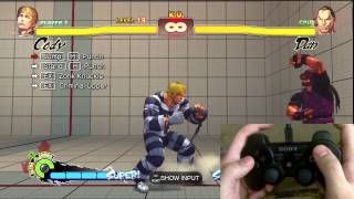 Super Street Fighter 4 Cody Trials 1-24 PS3 Controller Tutorial