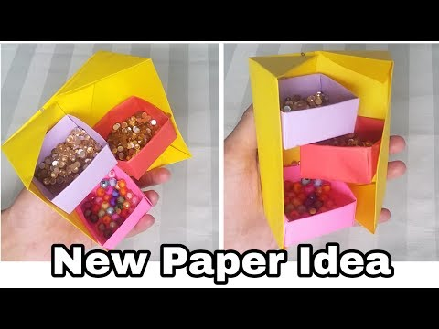 New paper idea ||DIY secret Box Organizer very easy craft