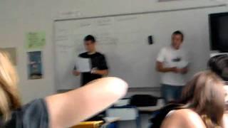 Bordel en classe Alexis et rené