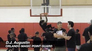 Orlando Magic's D.J. Augustin Shows NO MERCY to Kids at Annual Basketball Camp 😂😂