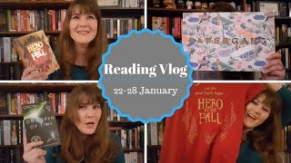 Reading Vlog: 22-28 January 2018 -- Papergang Unboxing, Alwyn Hamilton Launch Event, and More!