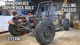 1000cc Trophy Truck Build | Rolling Chassis + Steering!