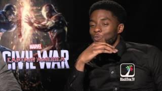 Chadwick Boseman talks Black Panther in Captain America Civil War