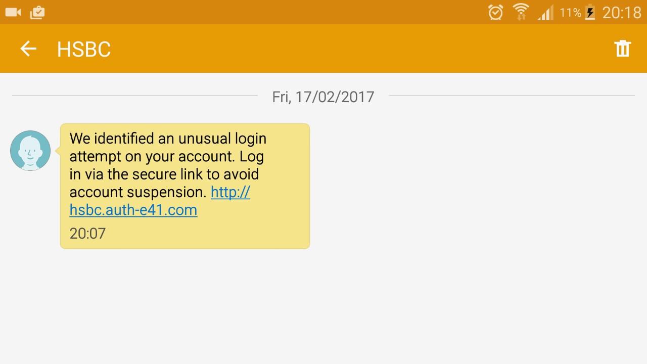 Hsbc Scam Text