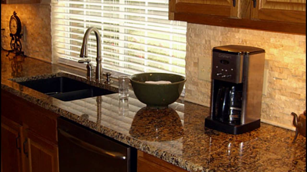 backsplash and granite combinations - YouTube