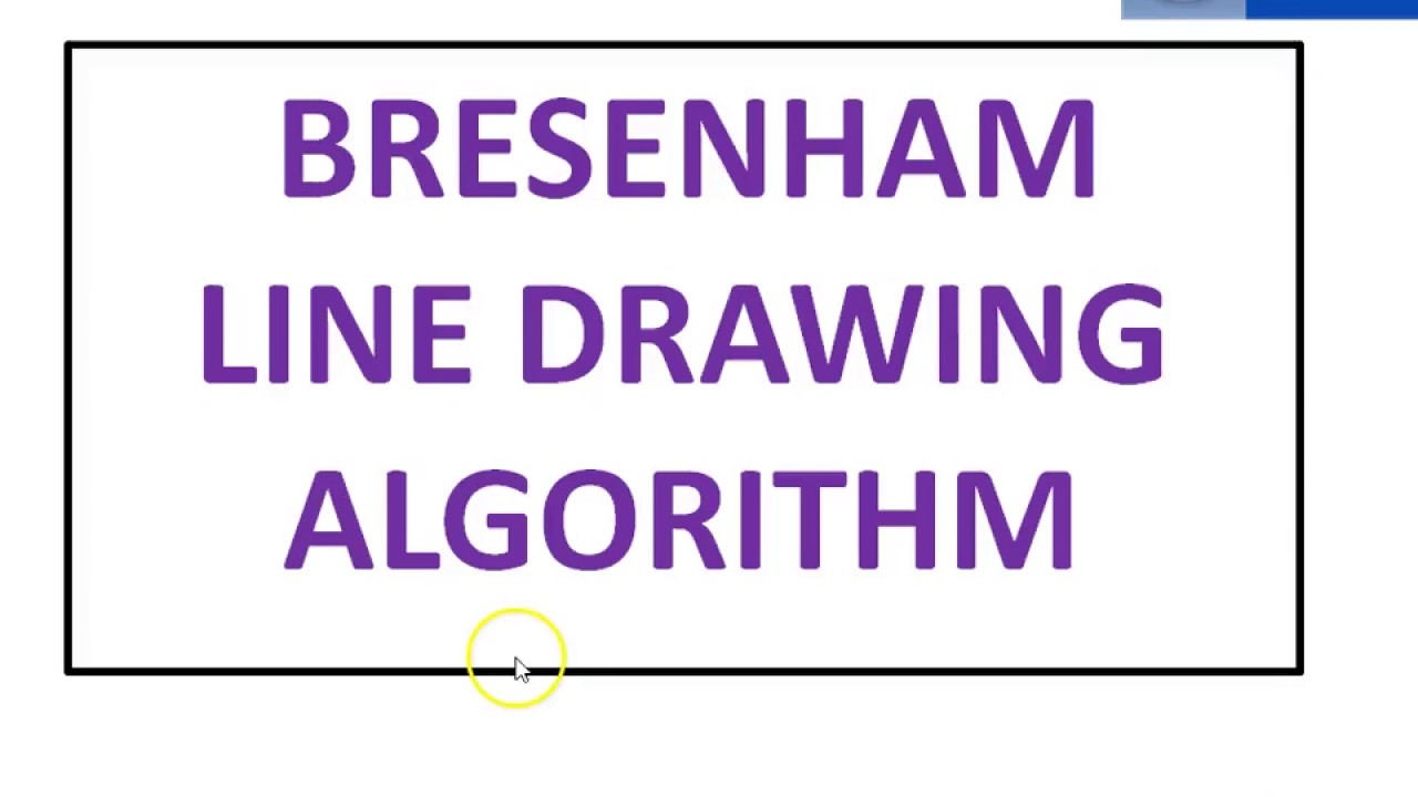 Line Drawing Algorithm Notes : Bresenham line drawing algorithm youtube