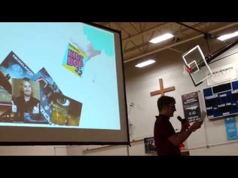 Mark Christiansen MS Paint Witness Talk, St. James Academy 2017