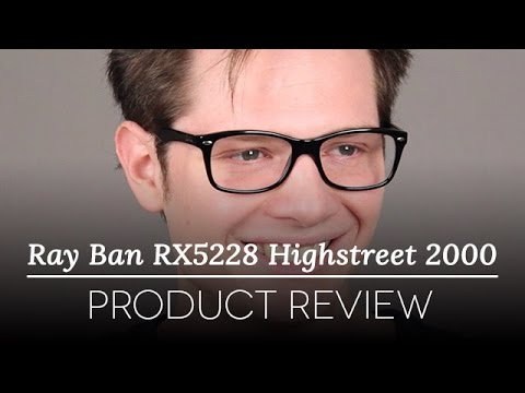 4f69ca4136e Ray-Ban RX5228 Highstreet Glasses Review - YouTube