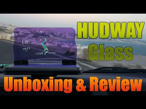 HUDWAY Glass Unboxing and Hands on Head Up Display