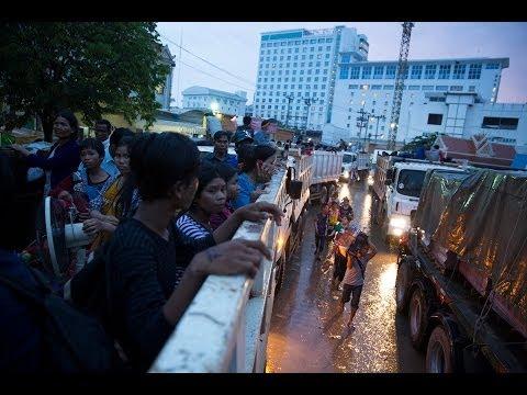 100k plus Cambodians flee Thai junta