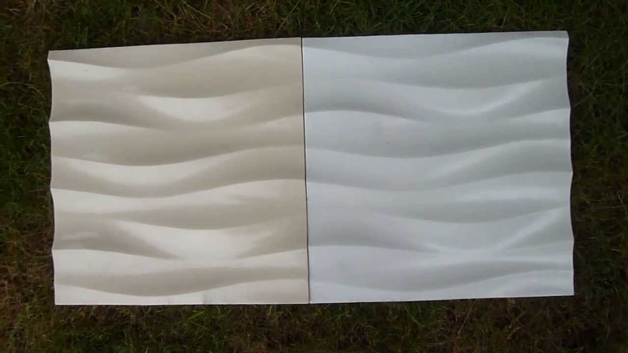 3d Beige White Artificial Interior Feature Wave Wall