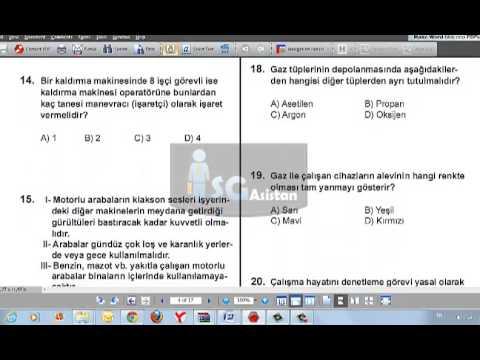 18 Mayıs İSG Sınavı Çözümü 1. Bölüm