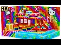 Build Aquarium Around Rainbow Hello Kitty Miniature House For Hamster With Magnetic Balls Satisfying