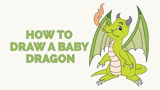 How to Draw a Baby Dragon - Easy Step-by-Step Drawing Tutorial