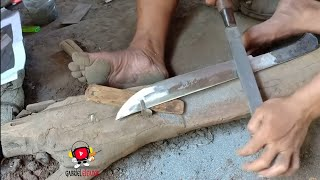 PRIMITIFE TECHNOLOGY  MAKING A SUPER SHARP KNIFE
