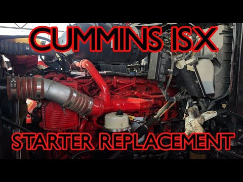 Cummins isx starter removal replacement