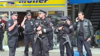 Мужчина с ножом напал на посетителей супермаркета в Гамбурге